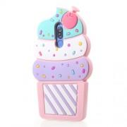 3D Cherry Ice Cream Soft Silicone Case for Huawei Mate 10 Lite / nova 2i / Maimang 6 / Honor 9i (India) - Pink