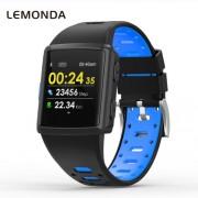 LEMONDA M3 GPS Sports Smart Watch 1.3 inch HD IPS Screen Six Watchfaces Real-time Activity Tracking - Μαύρο / Μπλε