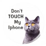 Βάση Στήριξης και Μεταφοράς για όλα τα Smartphones - Do Not Touch My iPhone και Γατούλα με Γουρλωμένα Ματάκια