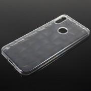 3D Diamond Grain Soft TPU Case for Huawei Honor 8A Pro - Transparent