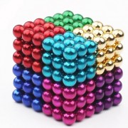 216Pcs/Set 5mm Colorful Magnetic Balls Building Block Creative Developmental Toy - 8 Color Random
