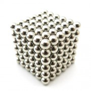 216 Pieces 5mm Magnetic DIY Puzzle Balls Toy for Children Early Education - Silver Color
