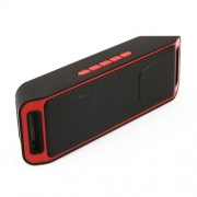 S208 Wireless Bluetooth Stereo USB Charging Speaker with FM Radio - Red