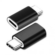 8Pin Lightning Female to USB-C Type-C Male Charger Cable Adapter - Black