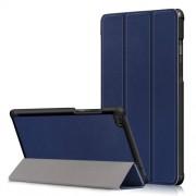 Δερμάτινη Θήκη Βιβλίο Tri-Fold με Βάση Στήριξης για Lenovo Tab E8 TB-8304F - Σκούρο Μπλε