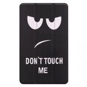Δερμάτινη Θήκη Βιβλίο Tri-Fold με Βάση Στήριξης για Lenovo Tab E8 TB-8304F - Do Not Touch Me