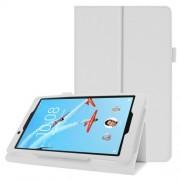Δερμάτινη Θήκη Βιβλίο με Βάση Στήριξης για Lenovo Tab E8 TB-8304F - Λευκό