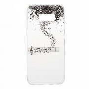 Ultra Thin Clear TPU Patterned Case for Samsung Galaxy S8 - Music Notes