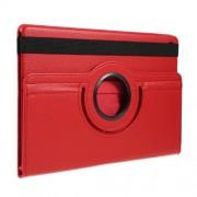 Περιστρεφόμενη Δερμάτινη Θήκη Βιβλίο με Βάση Στήριξης για Samsung Galaxy Tab S5e SM-T720 / SM-T725 - Κόκκινο