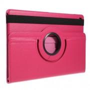 Περιστρεφόμενη Δερμάτινη Θήκη Βιβλίο με Βάση Στήριξης για Samsung Galaxy Tab S5e SM-T720 / SM-T725 - Φούξια
