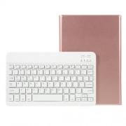 Δερμάτινη Θήκη Βιβλίο με Πλήκτρολόγιο Bluetooth για Samsung Galaxy Tab S5e SM-T720/SM-T725 - Ροζέ Χρυσαφί