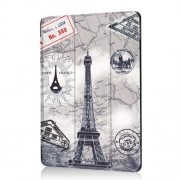 Pattern Printing Tri-fold Stand PU Leather Cover for iPad Air 10.5 (2019) / Pro 10.5-inch (2017) - Eiffel Tower and Map