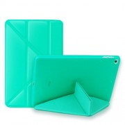 Multi-fold PU Leather Tablet Case Stand Cover for iPad mini (2019) 7.9 inch / mini 4 - Cyan