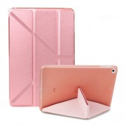 Multi-fold PU Leather Tablet Case Stand Cover for iPad mini (2019) 7.9 inch / mini 4 - Pink