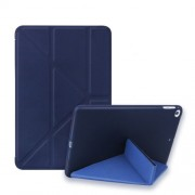 Multi-fold PU Leather Tablet Case Stand Cover for iPad mini (2019) 7.9 inch / mini 4 - Dark Blue