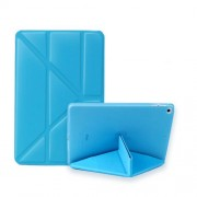 Multi-fold PU Leather Tablet Case Stand Cover for iPad mini (2019) 7.9 inch / mini 4 - Sky Blue