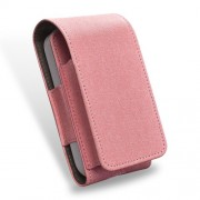 DUX DUCIS Δερμάτινη Θήκη με Όψη Υφάσματος για iQOS Electronic Cigarette - Ροζ