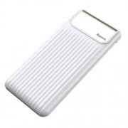 BASEUS Thin 10000mAh Dual-output Powerful QC3.0 Portable Power Bank with Type-C Input - White