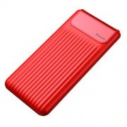 BASEUS Thin QC3.0 Dual-output 10000mAh Digital Display Mobile Power Bank - Red