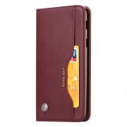 Δερμάτινη Θήκη Πορτοφόλι με Βάση Στήριξης (Όψη Vintage) για Xiaomi Pocophone F1 - Κόκκινο του Κρασιού