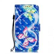 Δερμάτινη Θήκη Πορτοφόλι με Βάση Στήριξης για Xiaomi Mi 8 Lite / Mi 8 Youth (Mi 8X) - Όμορφες Πεταλούδες