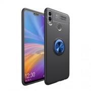 Υβριδική Θήκη Σιλικόνης TPU και Πλαστικού με Μεταλλικό Δαχτυλίδι που κάνει Βάση Στήριξης για Huawei Honor 8X / Honor View 10 Lite - Μαύρο / Μπλε