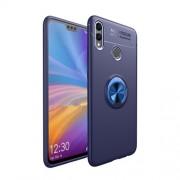 Υβριδική Θήκη Σιλικόνης TPU και Πλαστικού με Μεταλλικό Δαχτυλίδι που κάνει Βάση Στήριξης για Huawei Honor 8X / Honor View 10 Lite - Σκούρο Μπλε