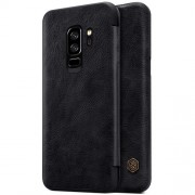 NILLKIN Qin Series for Samsung Galaxy S9+ G965 PU Leather Card Hodler Phone Case - Black