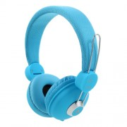 JKR 110 HiFi Stereo 3.5mm Wired Headset Foldable Over-ear Headphone with Mic - Blue