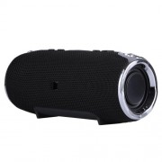 Portable Wireless Bluetooth Speaker with Mic Support TF Card/Aux-in/U Disk - Black