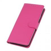 Δερμάτινη Θήκη Πορτοφόλι με Βάση Στήριξης για Xiaomi Mi 9 - Φούξια