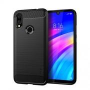 MOFI Shen Du Series Θήκη Σιλικόνης TPU Carbon Fiber Brushed για Xiaomi Redmi 7 - Μαύρο