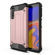 Armor Guard Hybrid Plastic + TPU Cell Phone Case for Samsung Galaxy A7 (2018) - Rose Gold