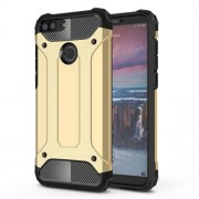 Armor Guard Plastic + TPU Hybrid Back Shell for Huawei Honor 9 Lite / Honor 9 Youth Edition - Gold