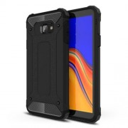 Armor Guard Plastic + TPU Hybrid Protection Case for Samsung Galaxy J4+ - Black