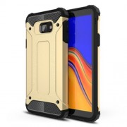 Armor Guard Hybrid Plastic + TPU Mobile Phone Case for Samsung Galaxy J4+ - Gold
