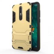 Υβριδική Θήκη Συνδυασμού Σιλικόνης TPU και Πλαστικού με Βάση Στήριξης για Nokia 5.1 Plus / X5 - Χρυσαφί