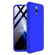 GKK 360 μοιρών Σκληρή Θήκη Ματ με Βελούδινη Υφή Πρόσοψης και Πλάτης για OnePlus 6T - Μπλε