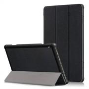 Δερμάτινη Θήκη Βιβλίο Tri-Fold με Βάση Στήριξης για Lenovo Tab M10 TB-X605F - Μαύρο