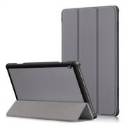 Δερμάτινη Θήκη Βιβλίο Tri-Fold με Βάση Στήριξης για Lenovo Tab M10 TB-X605F - Γκρι