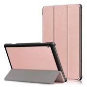 Δερμάτινη Θήκη Βιβλίο Tri-Fold με Βάση Στήριξης για Lenovo Tab M10 TB-X605F - Ροζ