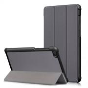 Δερμάτινη Θήκη Βιβλίο Tri-Fold με Βάση Στήριξης για Lenovo Tab E7 TB-7104F - Γκρι
