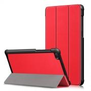 Δερμάτινη Θήκη Βιβλίο Tri-Fold με Βάση Στήριξης για Lenovo Tab E7 TB-7104F - Κόκκινο