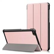 Δερμάτινη Θήκη Βιβλίο Tri-Fold με Βάση Στήριξης για Lenovo Tab E7 TB-7104F - Ροζέ Χρυσαφί