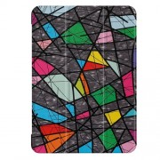 For Lenovo Tab 4 10 Plus Pattern Printing Tri-fold Stand Leather Case Cover - Geometric Pattern and Lines