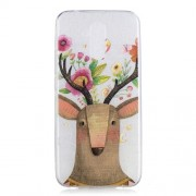 Cell Phone Casing for Huawei Mate 20 Lite Pattern Printing IMD Flexible TPU Case - Flowered Elk