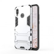 Cool Guard PC TPU Combo Mobile Casing with Kickstand for Huawei nova 3 - Silver