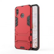 Cool Guard PC TPU Combo Mobile Phone Case with Kickstand for Huawei nova 3 - Red