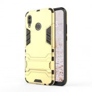 Cool Guard PC TPU Hybrid Phone Casing with Kickstand for Huawei nova 3 - Gold
