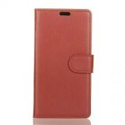 Δερμάτινη Θήκη Πορτοφόλι με Βάση Στήριξης για Sony Xperia L3 - Καφέ